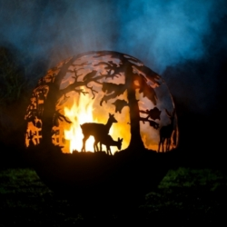 Spherical Sculptured Firepit