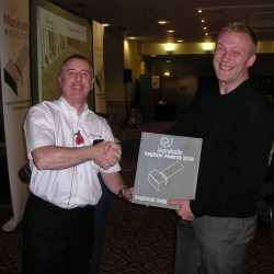James Bird Landscapes wins Honours at the Marshalls awards, for a driveway installation