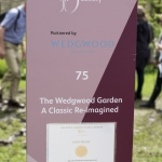 Gold medal winning Wedgwood Garden at the RHS Show at Chatsworth House in Derbyshire