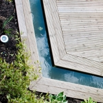 Softwood Decking with Water Feature