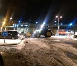 Shopping centre snow clearing