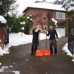 Driveway snow clearing