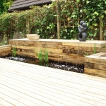 Contemporary Water Feature using Copper Pipework